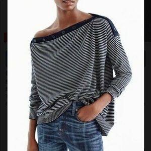 J Crew Oversized boatneck sweater cashmere